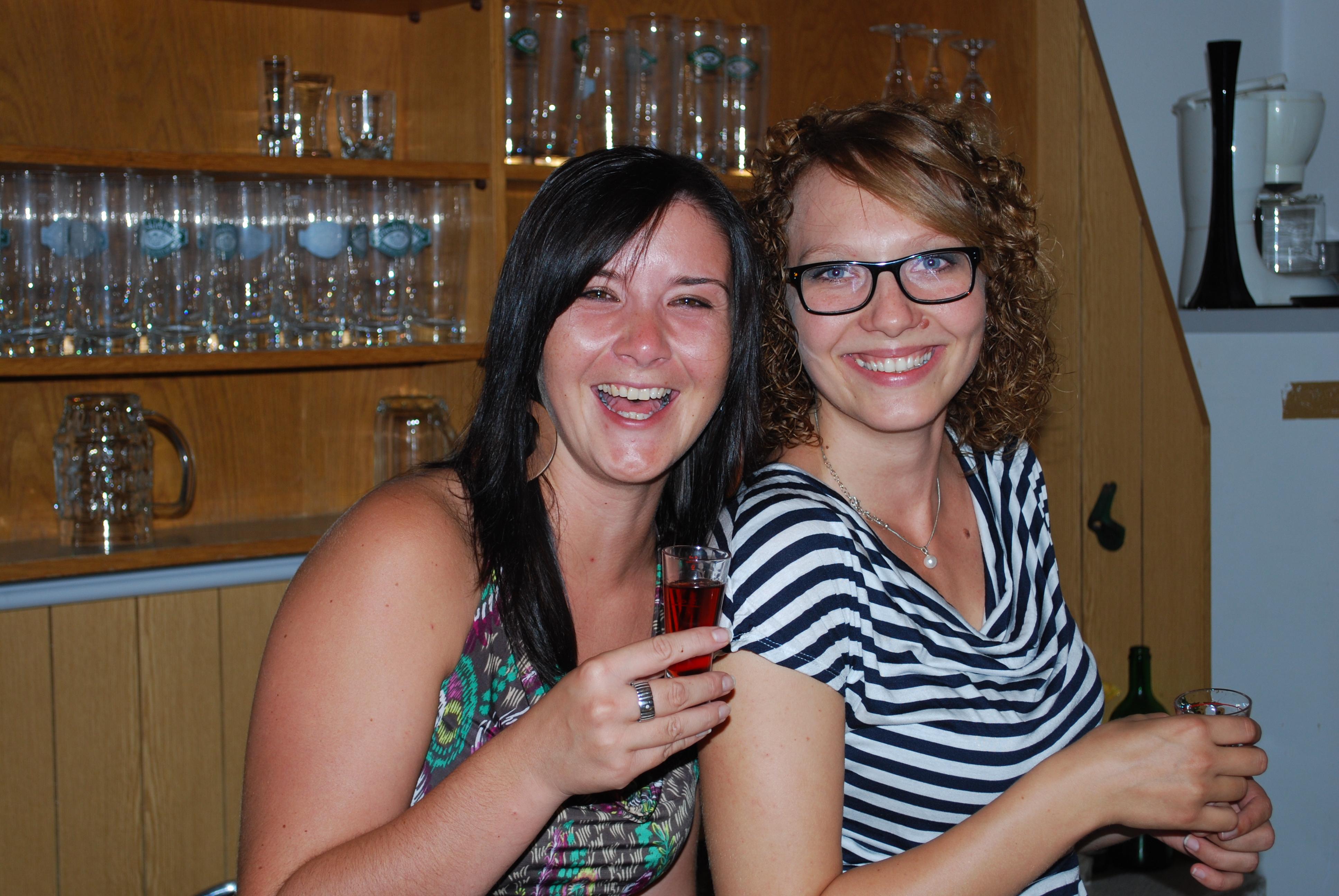 Empfangskomitee Eveline und Sandra